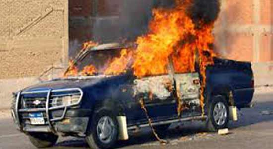 MB elements blew up the car of Chief of Detectives in Minya