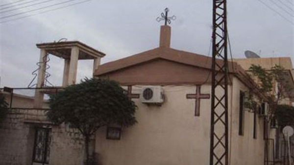 Police stop restoration work at the Evangelical Church in Beni Suef