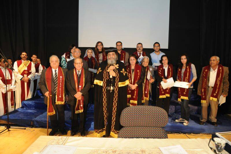 Pope Tawadros attends Institute of Coptic Studies' graduation ceremony