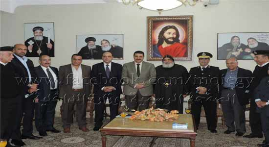 Alexandria security director visits the monastery of St. Mina