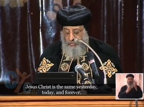 Pope Tawadros weekly sermon 26 November 2014: St.John the Chrysostom' Life