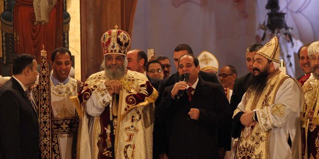 Sisi visits Christmas mass at Cairo's Abbasiya cathedral