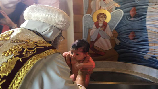 Pope baptizes two children at St. Mary Church in Vienna