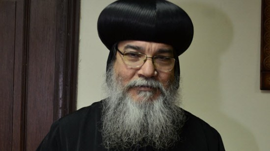 Bishop Makarios attends the funeral of martyr of sectarian strife in Minya