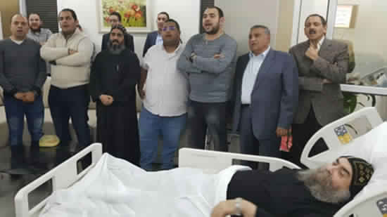 Abba Youannis celebrate Koiak praises at hospital
