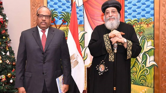 Ambassador of the UAE in Egypt congratulates Pope Tawadros II on Christmas