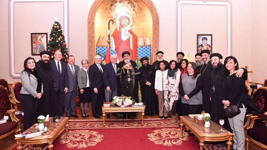 Pope Tawadros receives step forward institution at the Papal headquarter