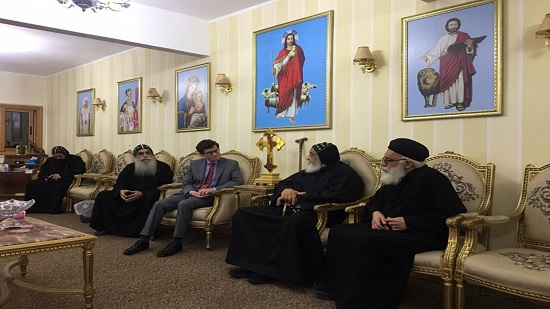 Consul of Spain visits the monastery of St. Mina in Mariot