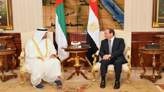 Sisi, Bin Zayed discuss recent developments in Gulf region