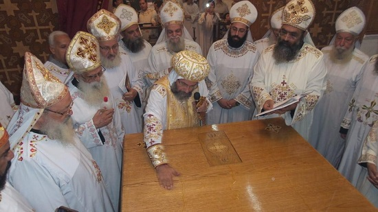 Bishop of Mit Ghamr inaugurates the Church of St. Mina and Pope Cyril