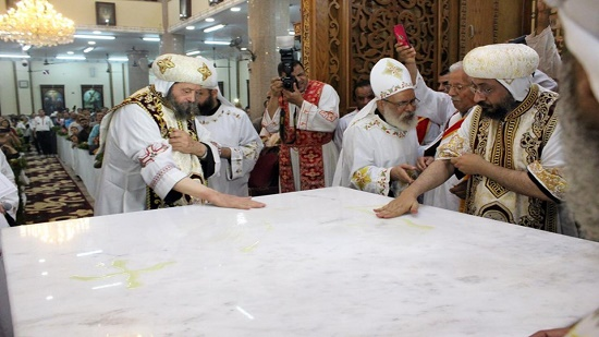 Bishop of Abnoub inaugurates a new church and ordains 2 new priests