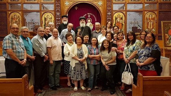Bishop Makar meets with a number of Coptic families in Canada