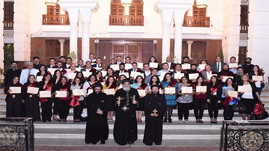 Pope Tawadros witnesses the graduation of the third batch of CIL
