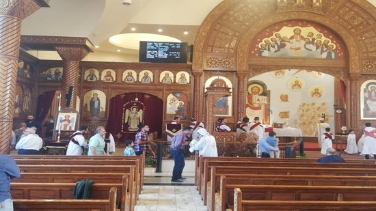 Head of the Monastery of Muharraq celebrates the Cross Feast in New Jersey