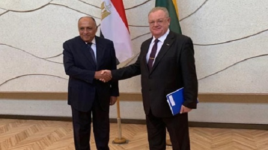 Egypts Foreign Minister holds talks with Lithuania's govt chancellor
