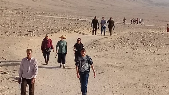 A tourist delegation from New Zealand visits Antiquities of Tal el-Amarna in Minya
