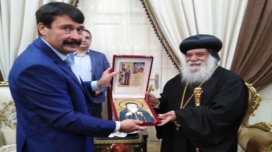 Hungarian President visits the Monastery of El Shayeb in Luxor