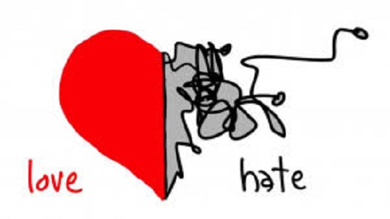A Love vs. hatred