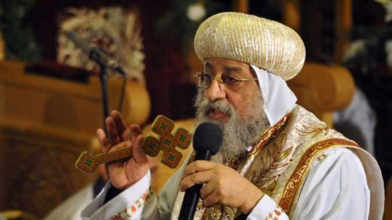 Pope Tawadros celebrates the feast of the Virgin in Wadil Natroun