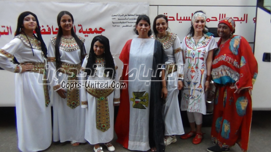 Girls in Pharaonic clothing celebrate the ancient Egyptian New Year