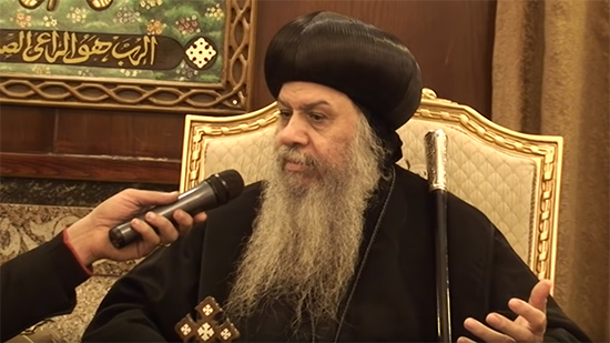 Bishop Agathon declares his submission for Pope Tawadros