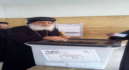 Bishops of the Orthodox Church cast their votes in the presidential elections
