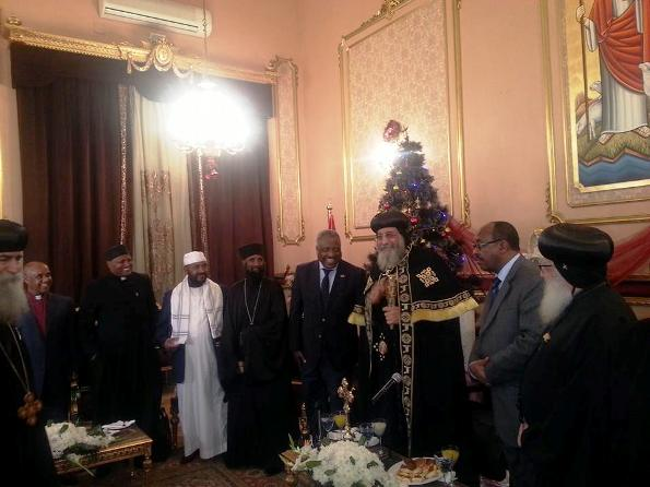 Coptic Church celebrates the Ethiopian People's diplomatic delegation