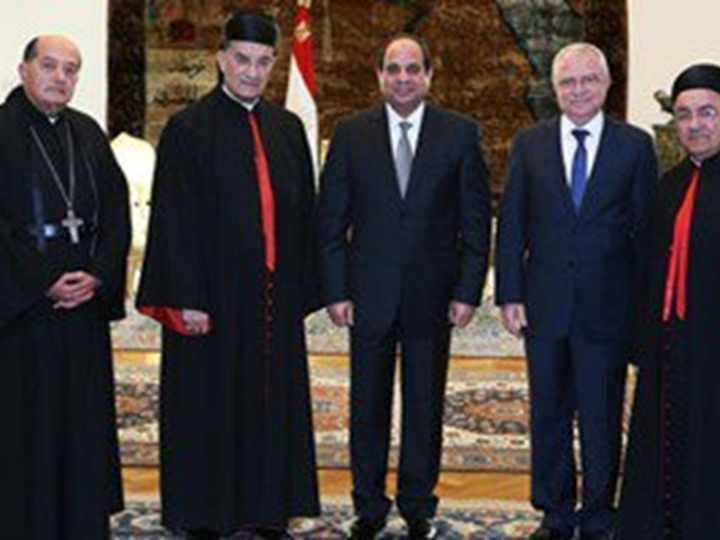Sisi congratulates Maronite patriarch on their new church in Egypt