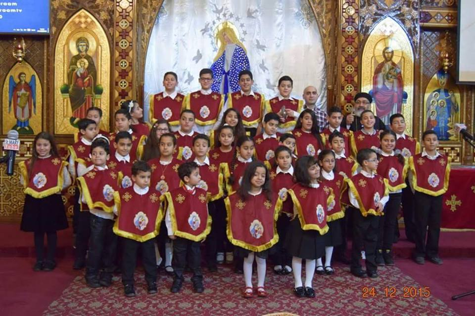 Coptic church celebrate western Christmas in England