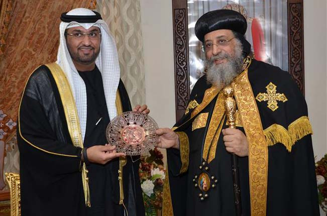 Pope Tawadros II awards UAE's Sultan Al Jaber Shield of Coptic Church