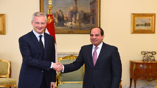 Egypts Sisi discusses trade, bilateral relations with French finance minister in Cairo