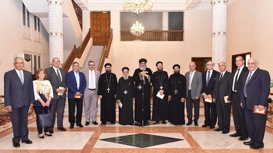 Pope Tawadros receives Council of St. George and St. Anthony Church in Heliopolis