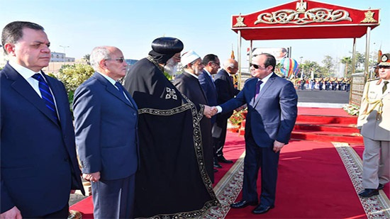 Pope Tawadros participates in celebrations of October victory anniversary