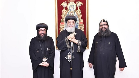 Pope Tawadros meets with priest of Saints Peter & Paul church in Qatar