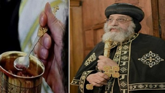 Pope Tawadros and taking communion